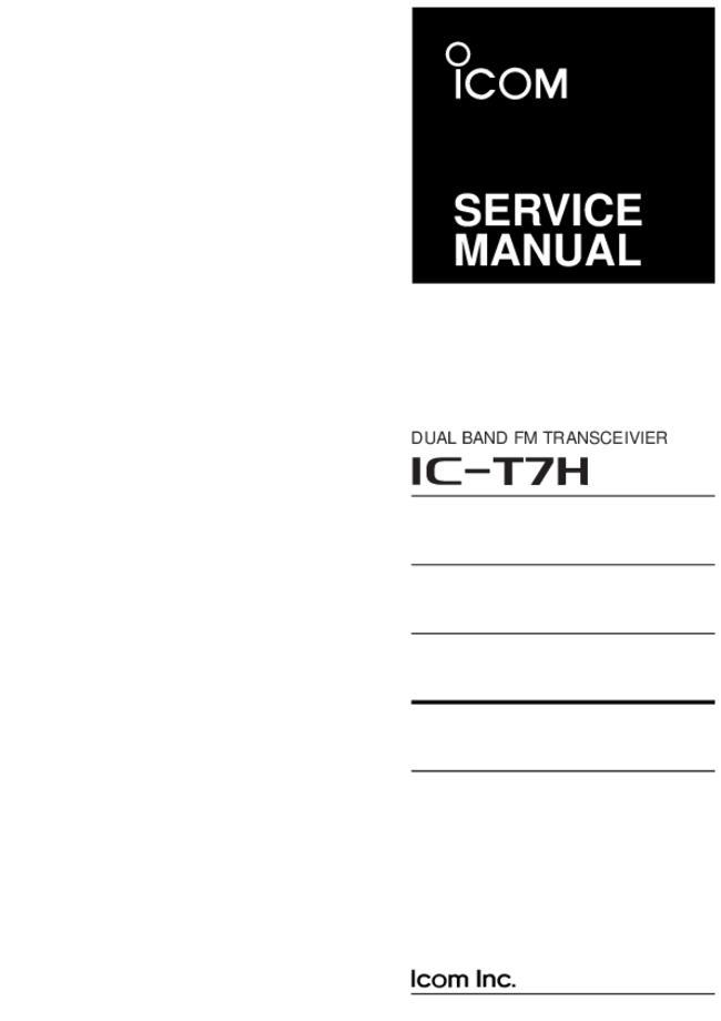 Icom -- Ic-t7h