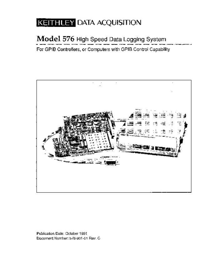 Service and User Manual Keithley 576