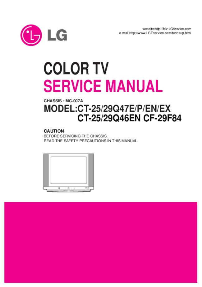 Service Manual LG CT-29Q46EN
