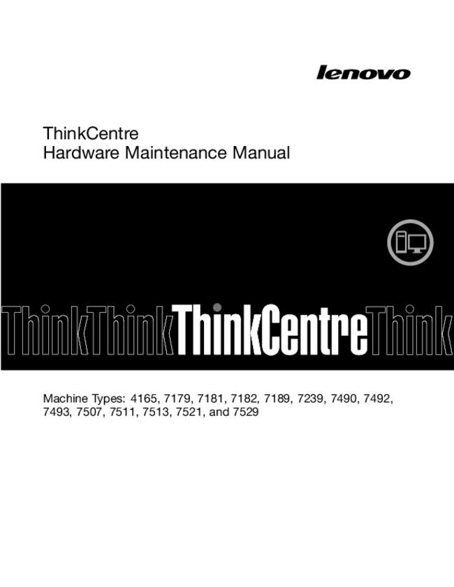 Service Manual Lenovo ThinkCentre 7529