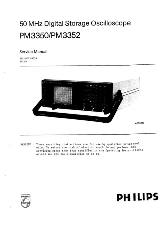 Service Manual Philips PM 3352