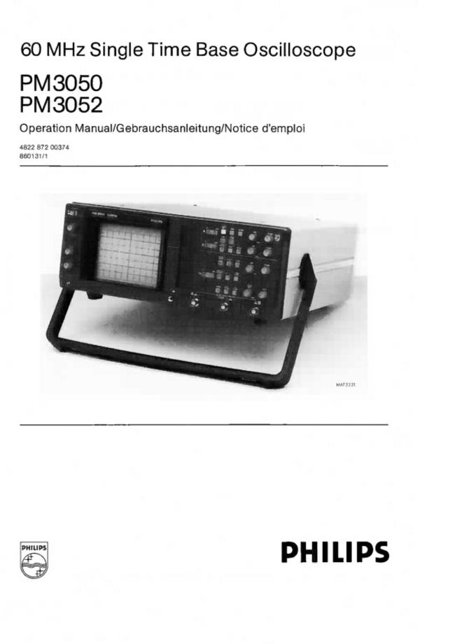 User Manual Philips PM 3052