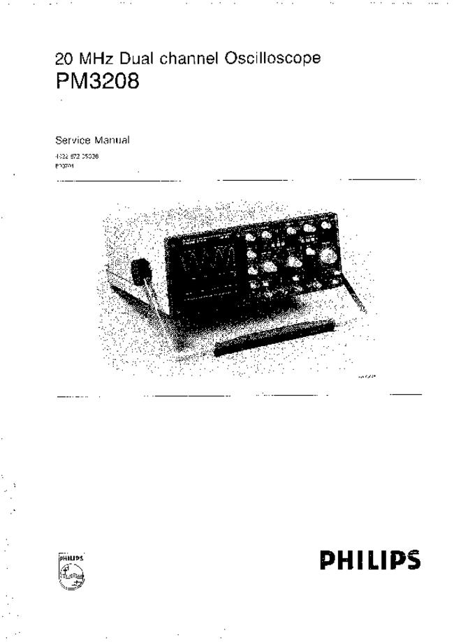 Service Manual Philips PM3208