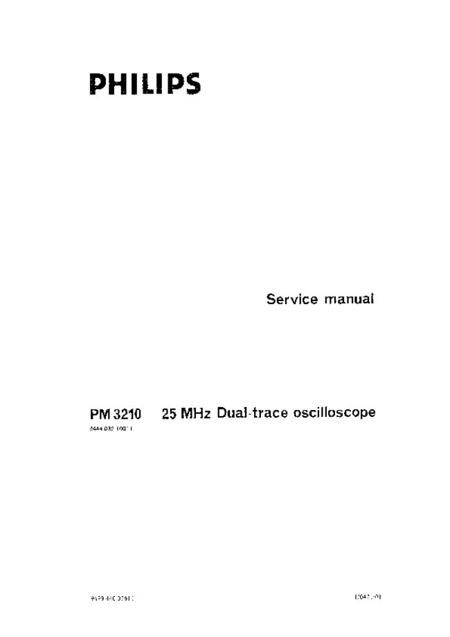 Service Manual Philips PM 3210