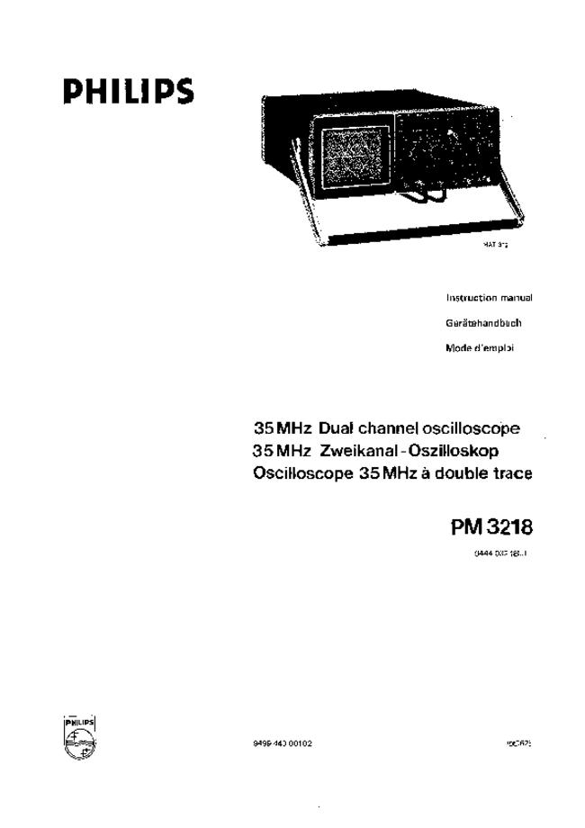 Service and User Manual Philips PM3218