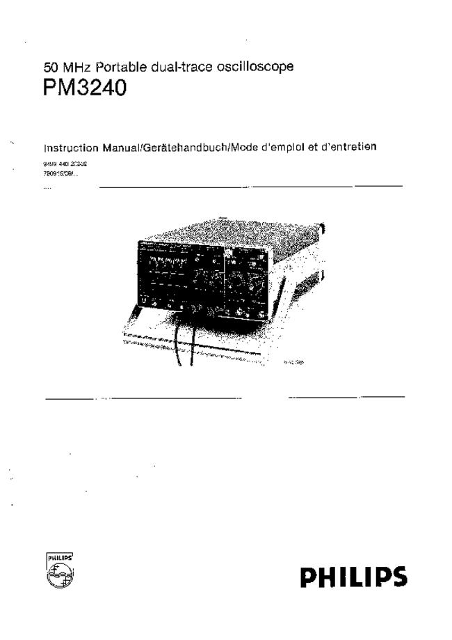 Service and User Manual Philips PM3240