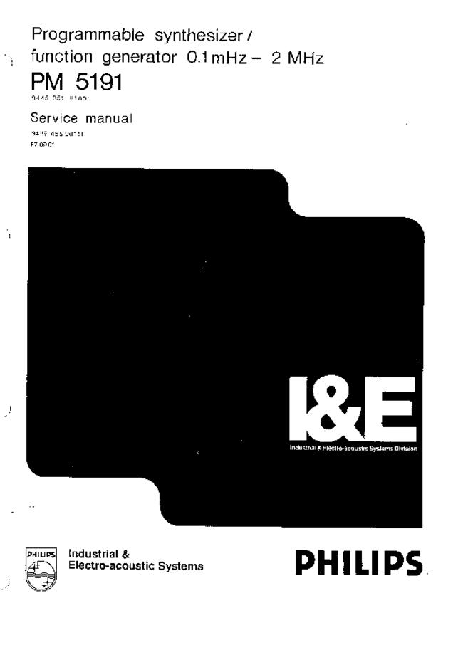 Service Manual Philips PM 5191