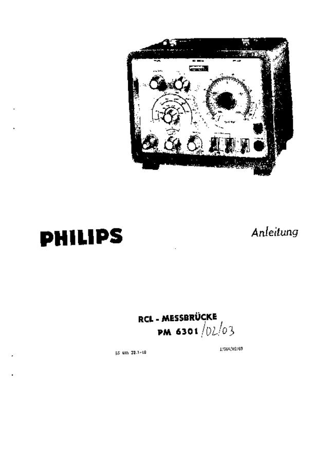 Service and User Manual Philips PM 6301