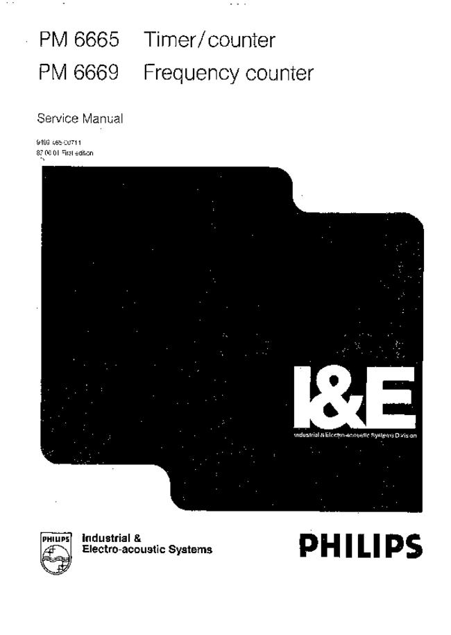 Service Manual Philips PM 6669