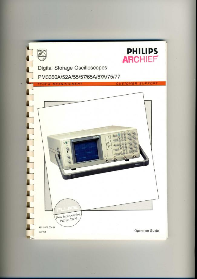 User Manual Philips PM3370