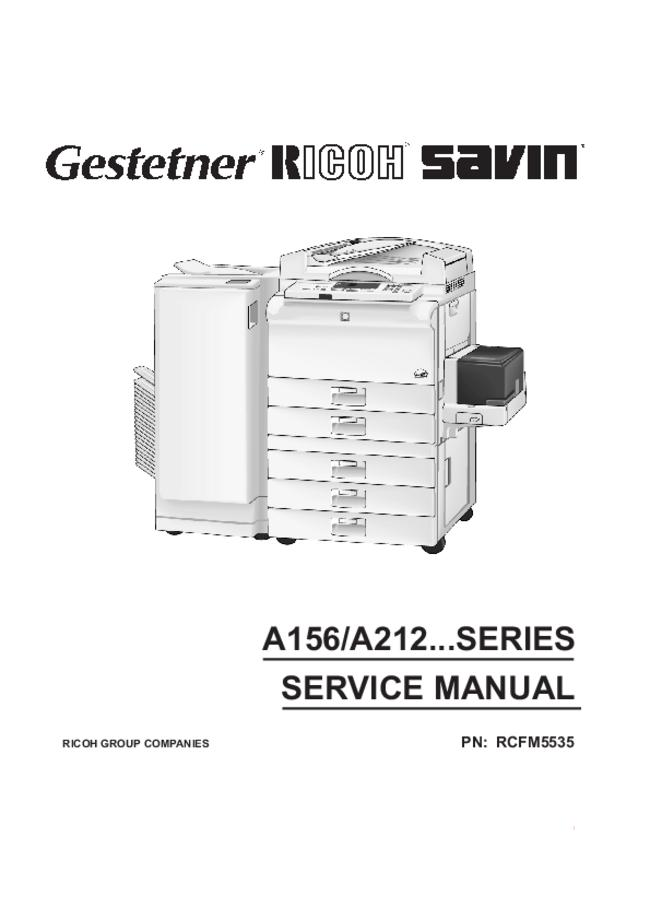 Service Manual Ricoh A212 SERIES