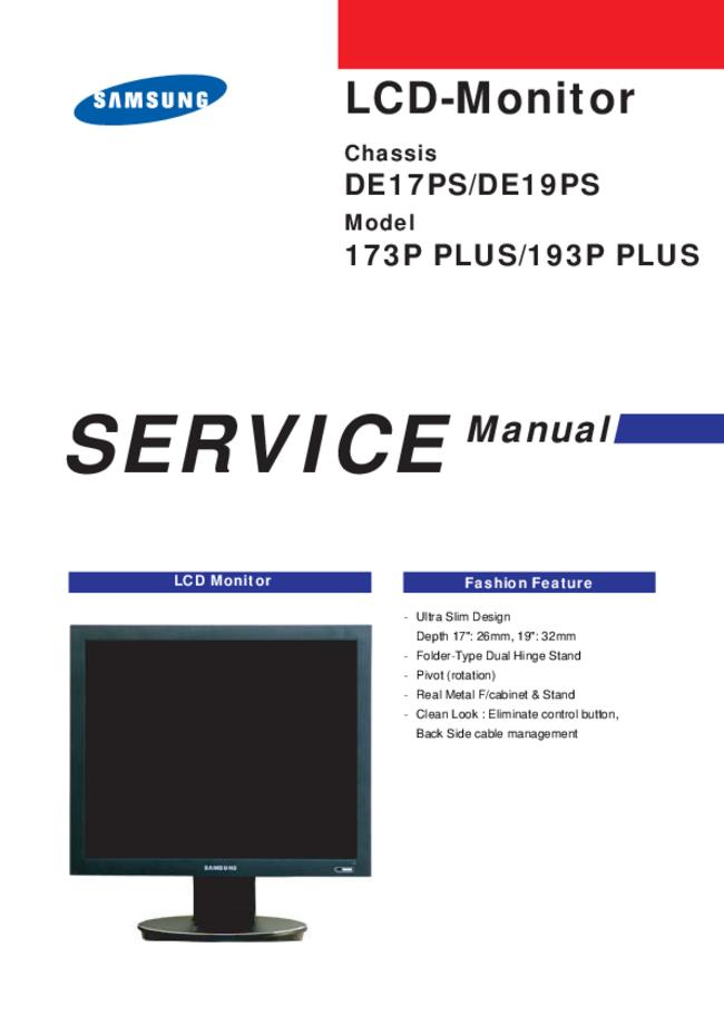 Service Manual Samsung DE19PS
