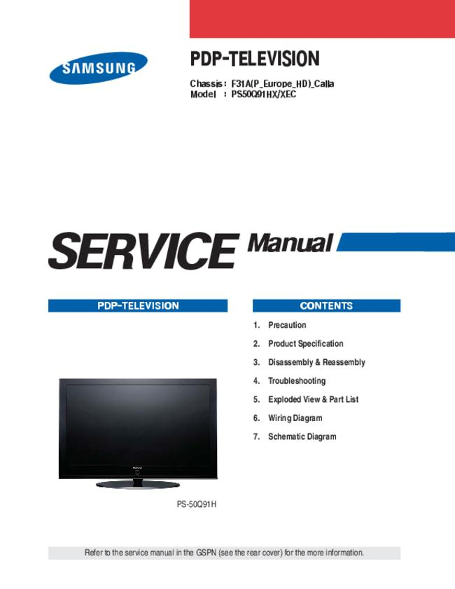 Service Manual Samsung F31A