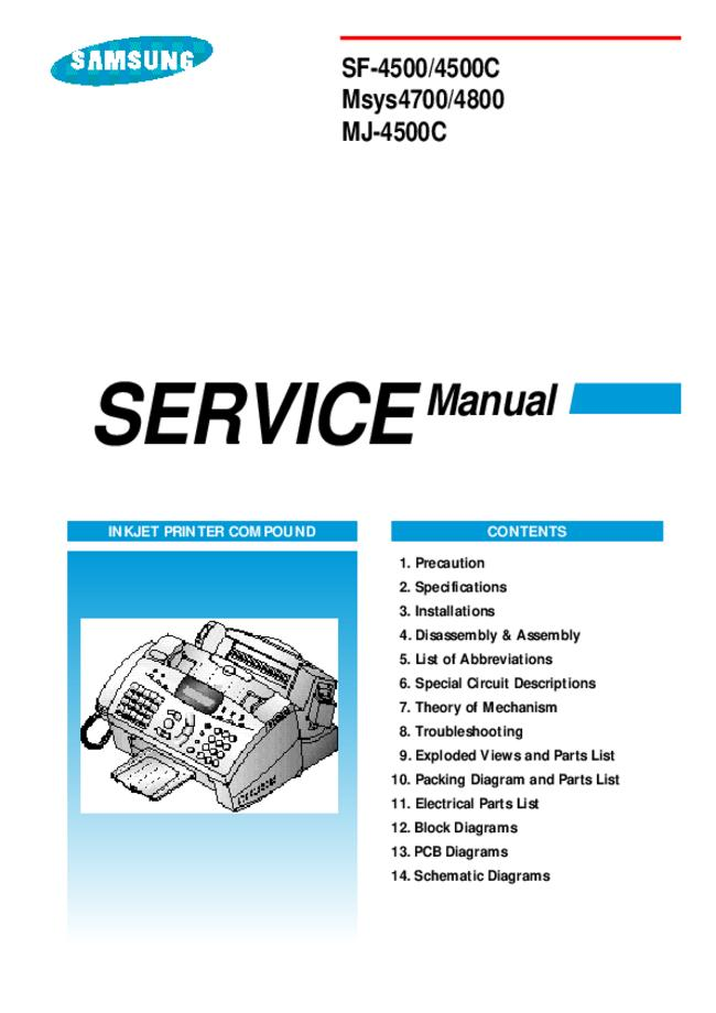 Service Manual Samsung MJ-4500C
