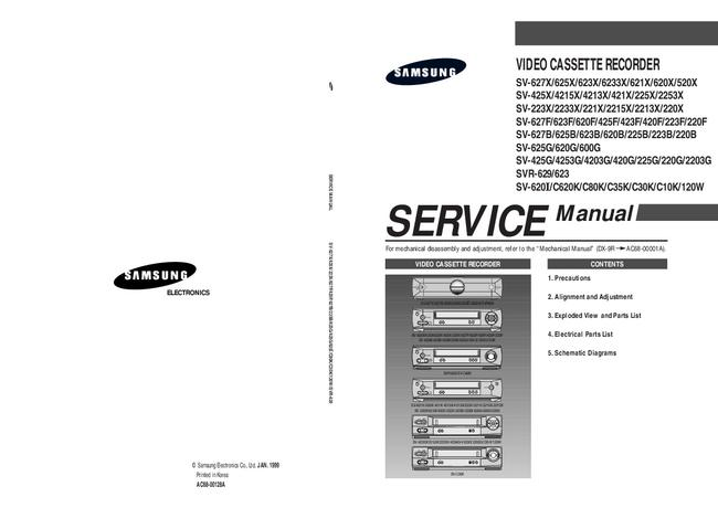 Service Manual Samsung SV-120W