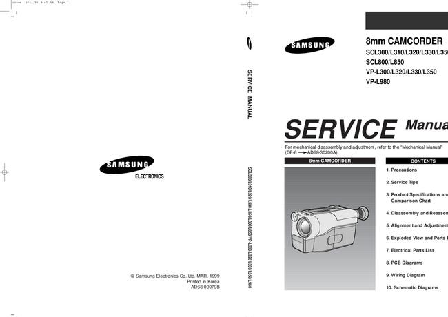 Service Manual Samsung VP-L980