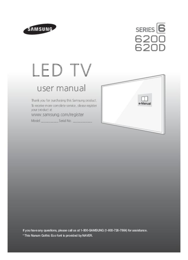 User Manual Samsung 620D
