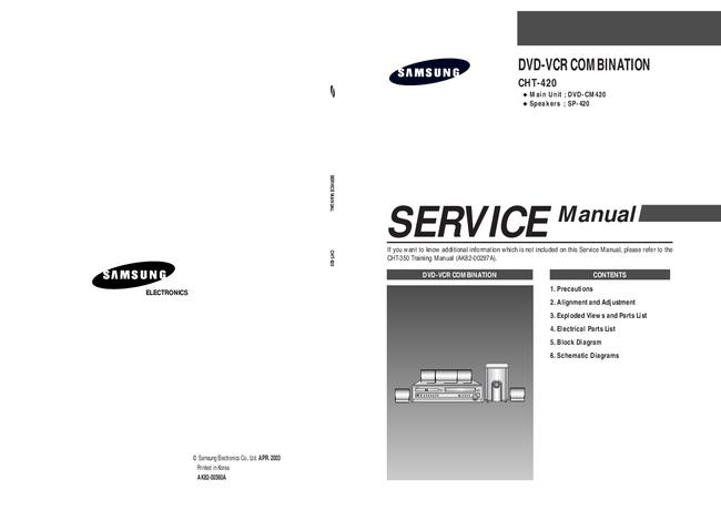 Service Manual Samsung SP-420