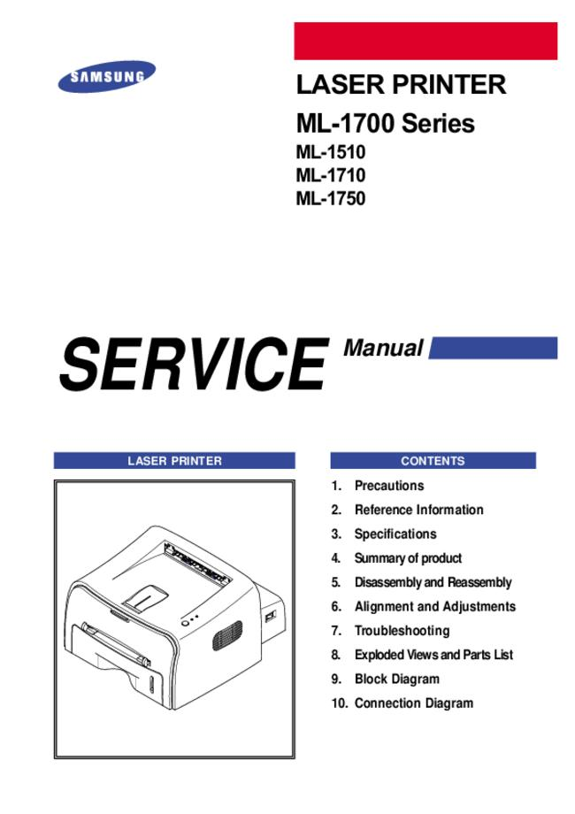 Service Manual Samsung ML-1750