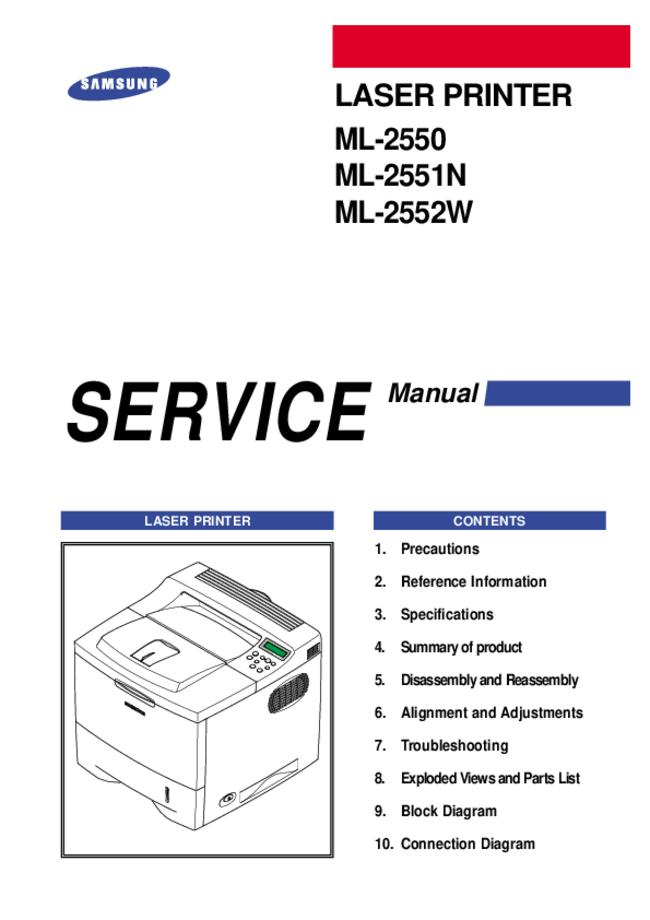 Service Manual Samsung ML-2552W