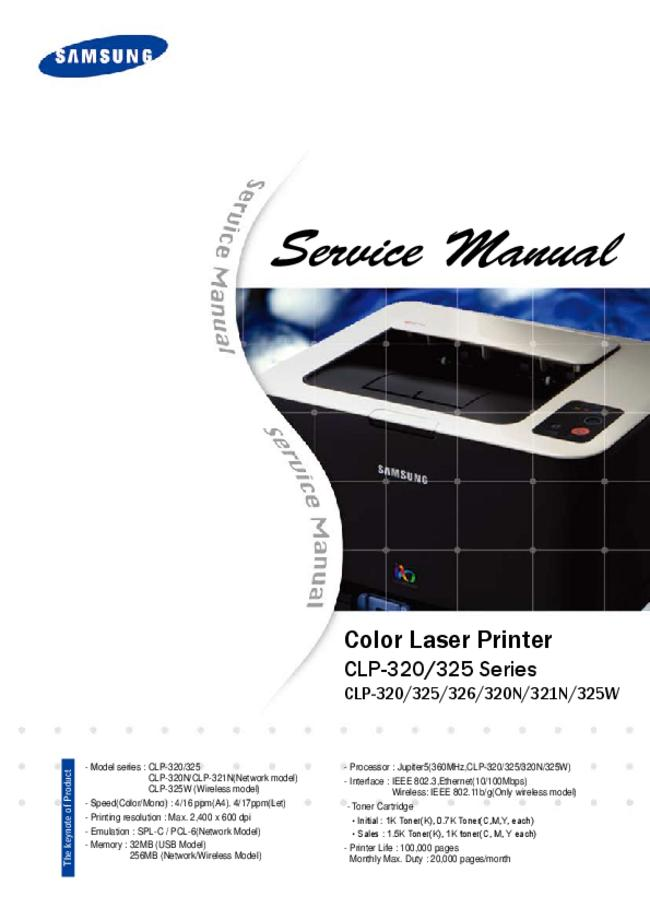 Service Manual Samsung CLP-326