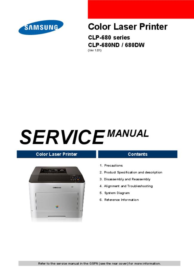 Service Manual Samsung CLP-680ND