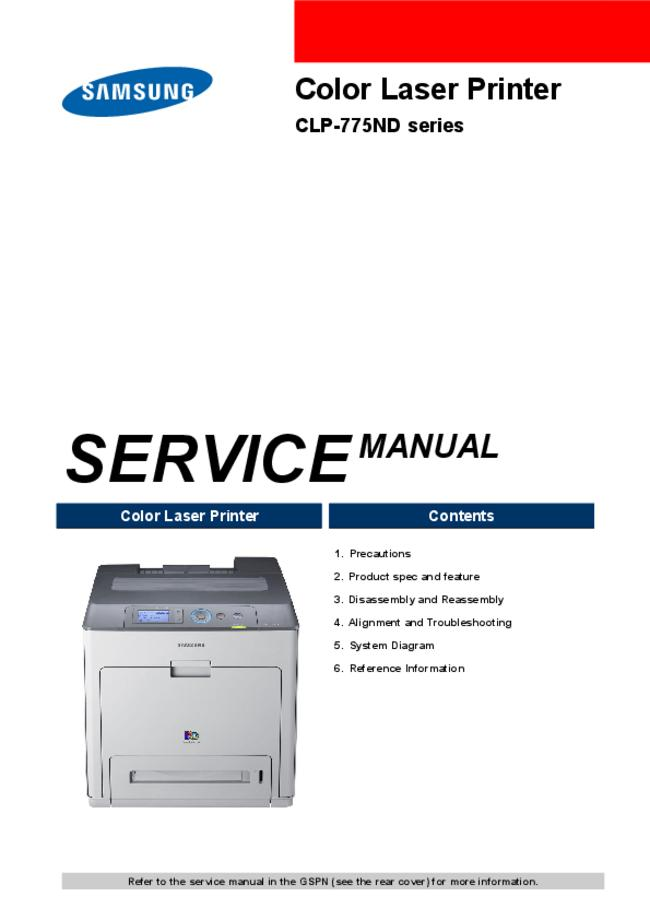 Service Manual Samsung CLP-775ND Series
