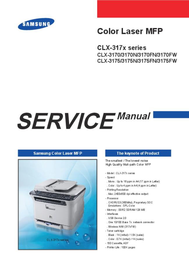 Service Manual Samsung CLX-3175