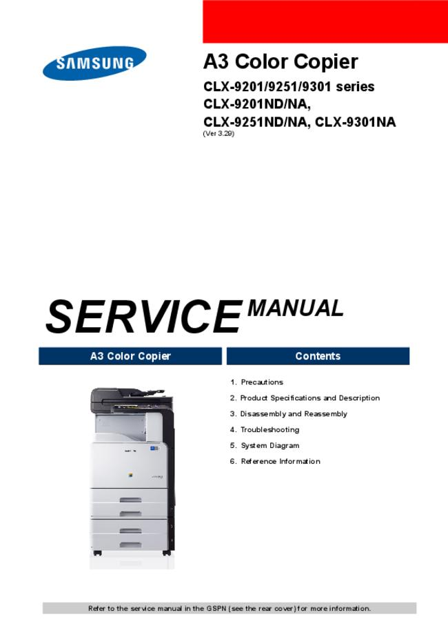 Service Manual Samsung CLX-9251ND