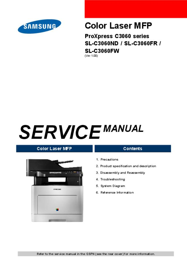 Service Manual Samsung SL-C3060ND