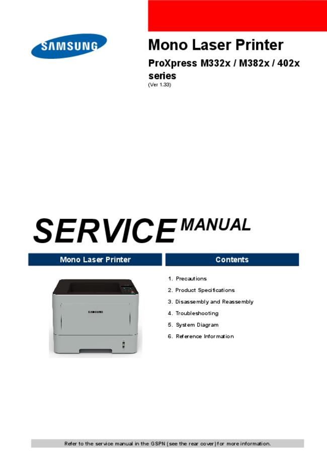 Service Manual Samsung ProXpress 402x Series