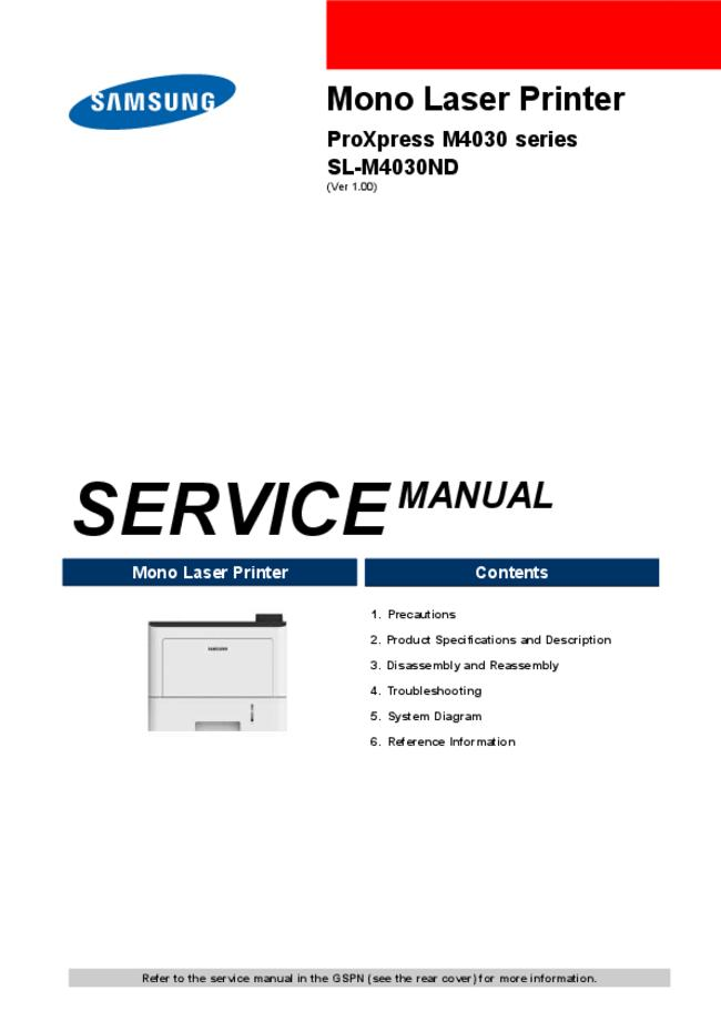 Service Manual Samsung SL-M4030ND