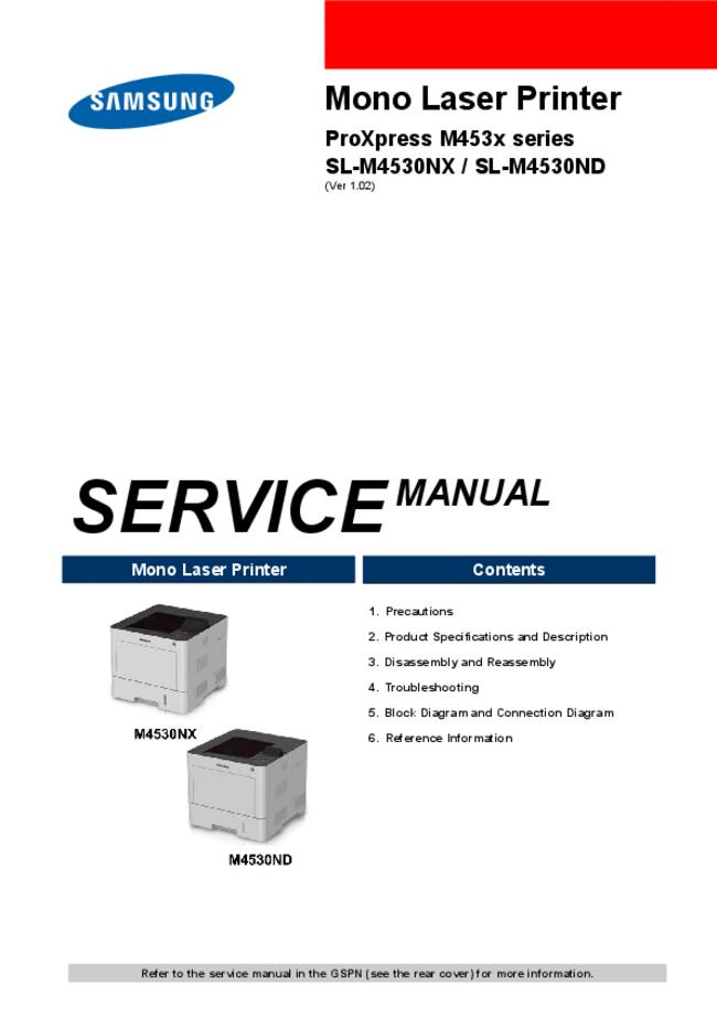Service Manual Samsung SL-M4530ND
