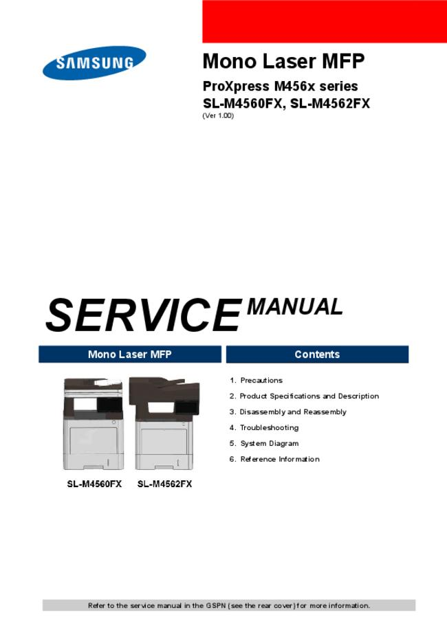 Service Manual Samsung ProXpress M456x Series