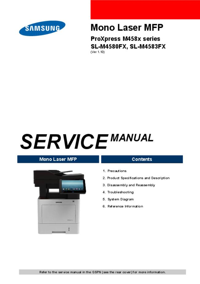Service Manual Samsung ProXpress M458x series