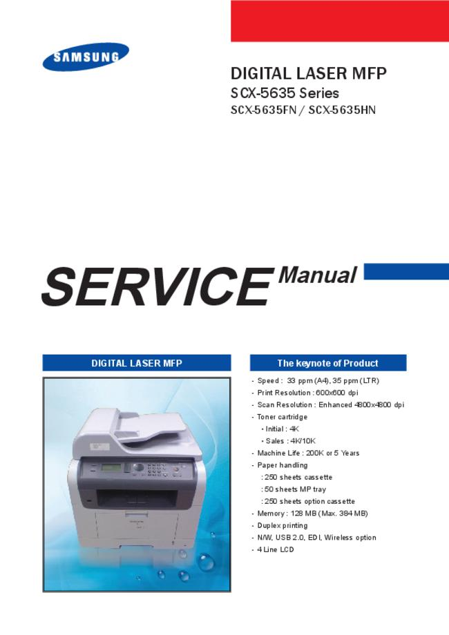 Service Manual Samsung SCX-5635 Series