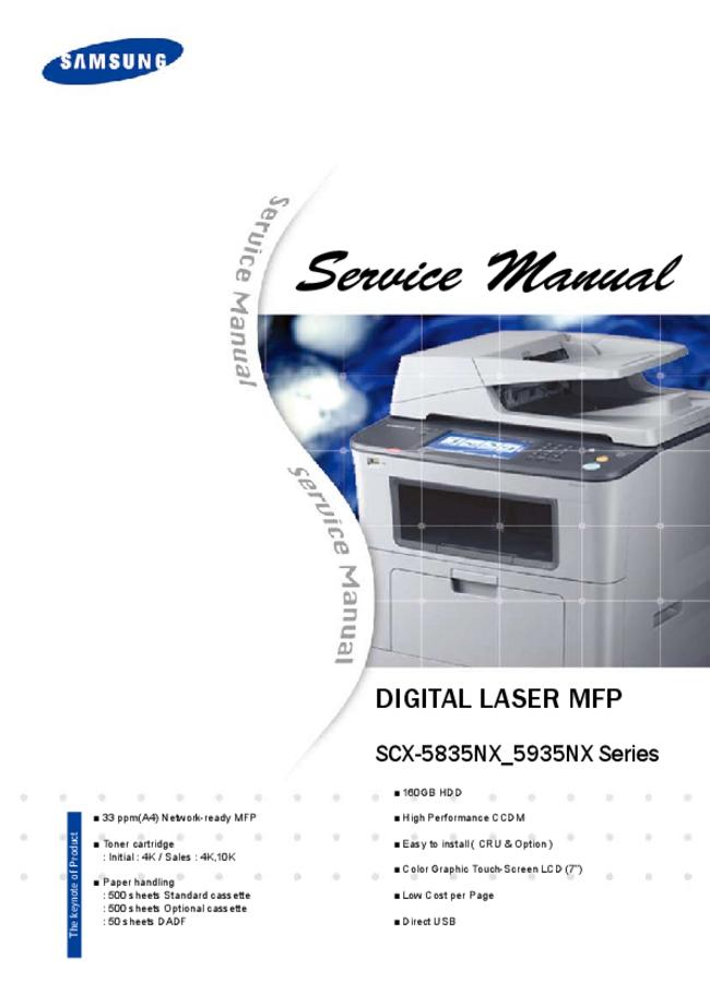 Service Manual Samsung SCX-5935NX Series