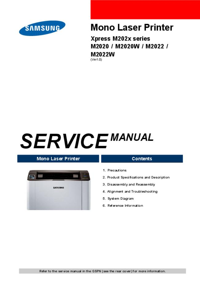 Service Manual Samsung M2022W