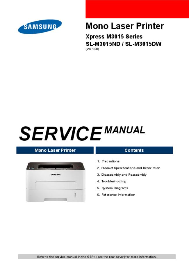 Service Manual Samsung SL-M3015ND