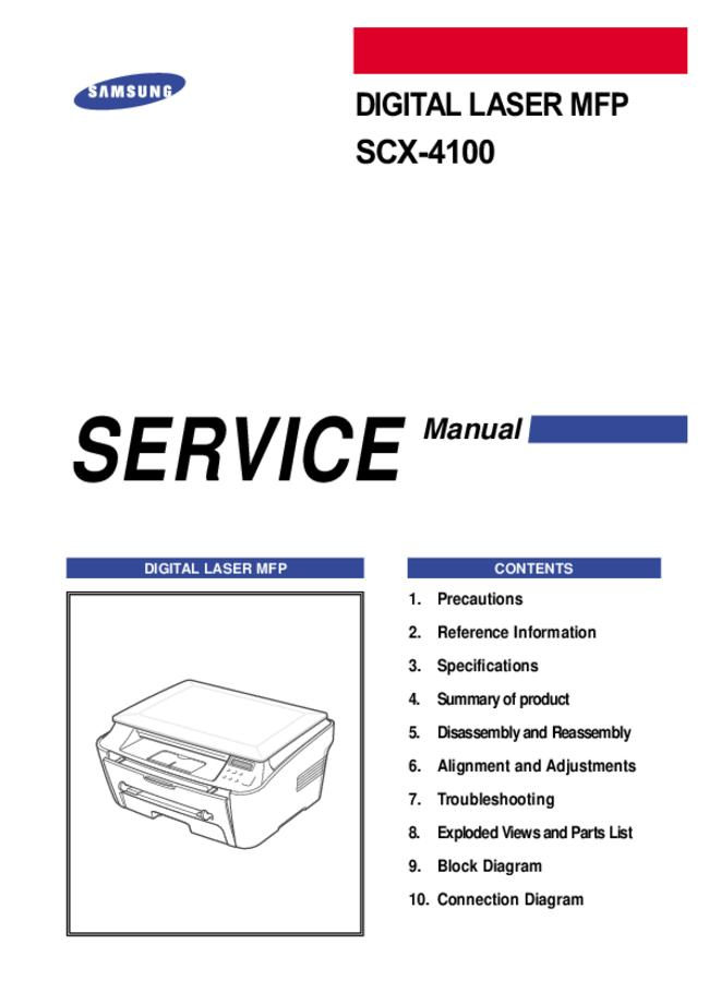Service Manual Samsung SCX-4100