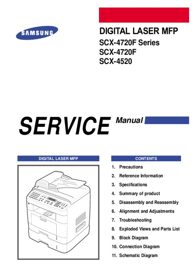 Service Manual Samsung SCX-4520