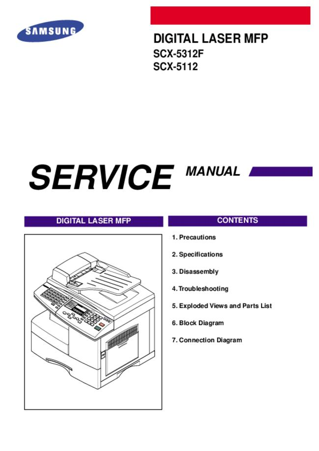 Service Manual Samsung SCX-5112