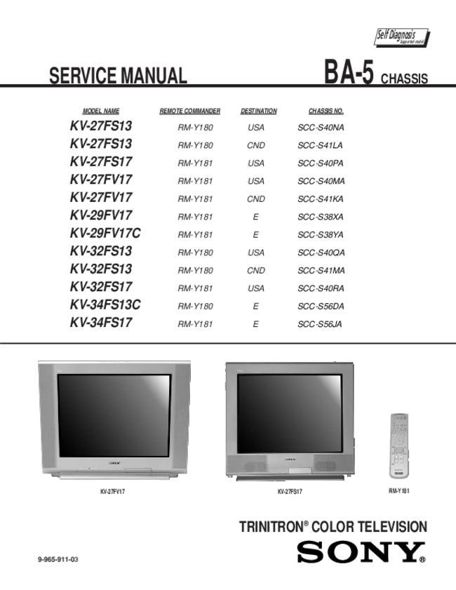 Sony -- Kv-29fv17c