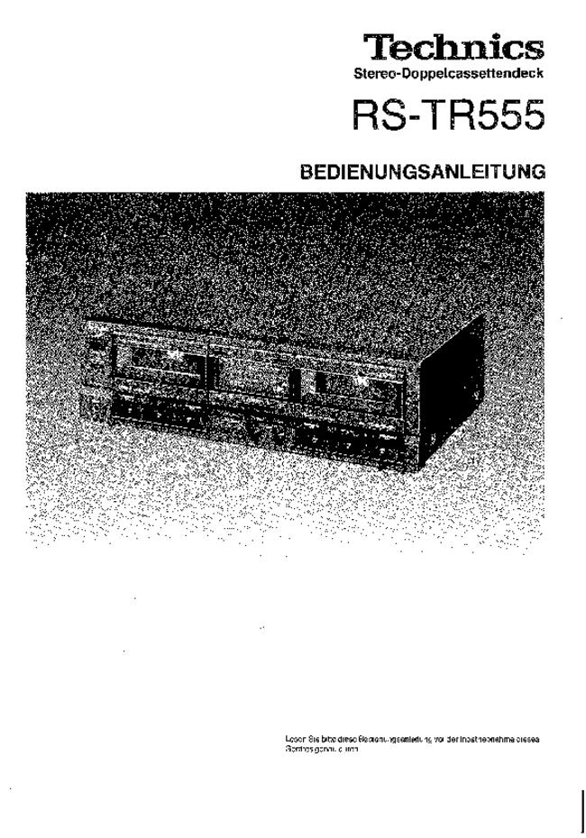 Technics -- RS-TR555 -- Download your lost manuals for free