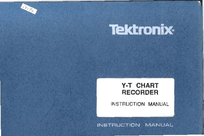 Service and User Manual Tektronix Y-T Chart recorder