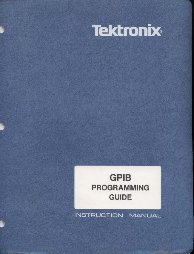 Book Tektronix GPIB Programing Guide