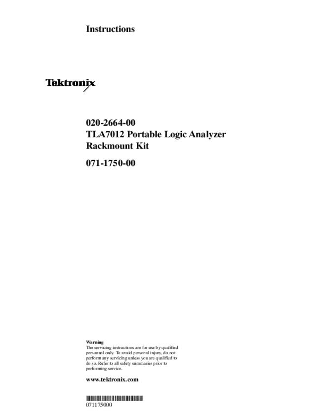 User Manual Tektronix 020-2664-00