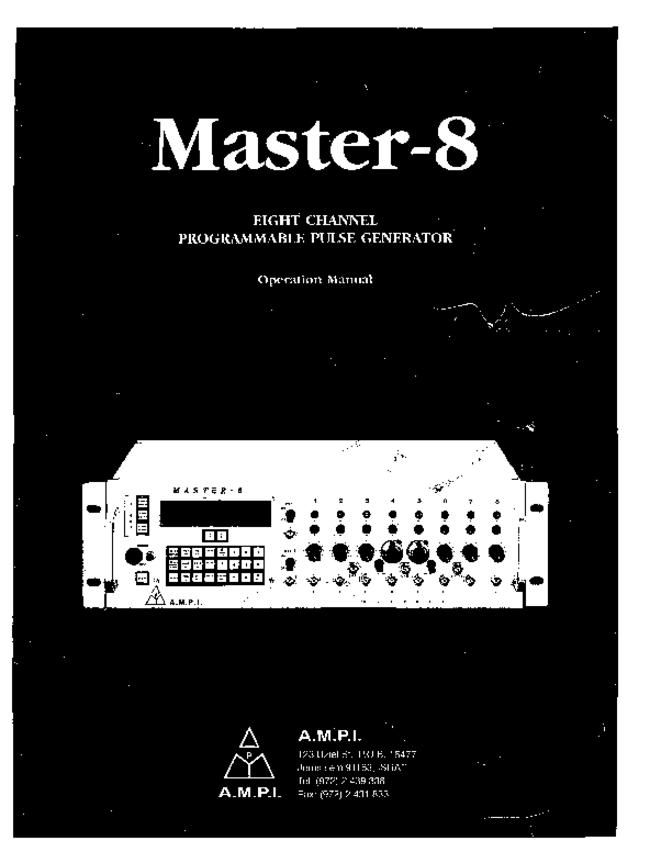 User Manual ampi Master-8